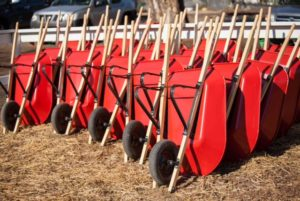 Wheel Barrels available for use at Hagle Christmas Tree Farm