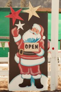 open sign at Hagle Christmas Tree Farm