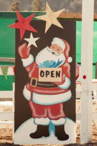 open sign at Hagle Christmas Tree Farm